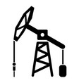 oil rig icon simple black style vector image