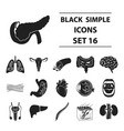 organs set icons in black style big collection vector image