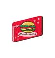 Retro 1950s Diner Hamburger Sign vector image