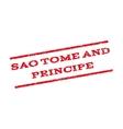 Sao Tome And Principe Watermark Stamp vector image