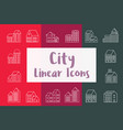 set city urban vector image