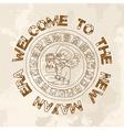 Welcome new Mayan era vector image