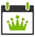 Crown Calendar Day Flat Icon vector image