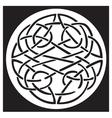 celtic knot pattern design vector image vector image