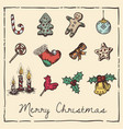 retro christmas invitation card vector image