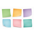 color note stickers four color sheets for notes vector image