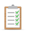 Clipboard and checklist vector image vector image