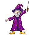 A witch with a wand vector image