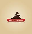 Saint Petersburg Russia city symbol vector image vector image