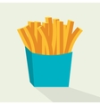 french fries isolated icon design vector image