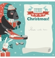 Cute animals giving presents vector image