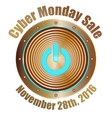cyber monday sale copper with blue vector image