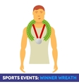 flat icon sport events vector image