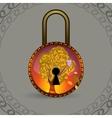 Magic decorative lock vector image