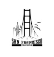 skyline of San Francisco design template vector image