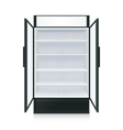 Realistic Empty Commercial Fridge vector image