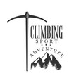 climbing sport adventure mountain hiking vector image