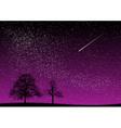 black and purple dark night vector image