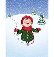 winter joy vector image vector image