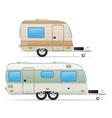 trailer caravan 03 vector image vector image