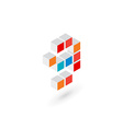 3d cube number 9 logo icon design template vector image