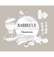 Barbecue Party Vintage Sketch vector image