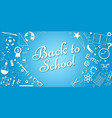 back to school concept banner poster for vector image