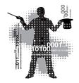 Computer magician vector image