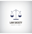 Law office logo icon The judge firm vector image