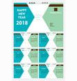new year 2018 calendar template design vector image