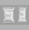 polypropylene package on transparent background vector image