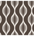 Seamless abstract geometric pattern of wavy vector image