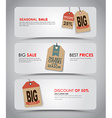 Set of white banners for sale vector image