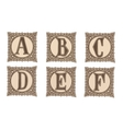 Vintage set capital letters floral Monograms and vector image