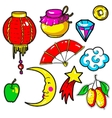 Set of Chinese New Year stickers pins patches in vector image vector image