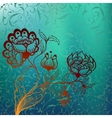 Mystic background with stylized flower vector image