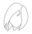 cute face woman female hairstyle outline vector image