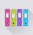ring binder in a row set icon vector image