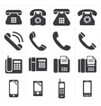 icon telephone classic to smartphone vector image