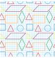 Seamless pattern with outlines of geomertical vector image