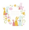 Spring rabbits vector image