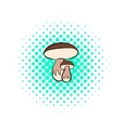 Mushrooms icon pop-art style vector image