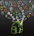 Back to school concept Falling icons to the school vector image
