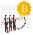 bitcoin growth concept vector image