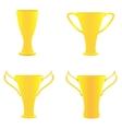 champion golden trophies vector image