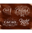 Chocolate labels collection brown vector image