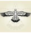 decorative seagull vector image