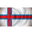 Flag of Faroe Islands vector image