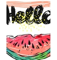 Hand drawn abstract card of watermelon and vector image