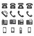 icon telephone classic to smartphone vector image